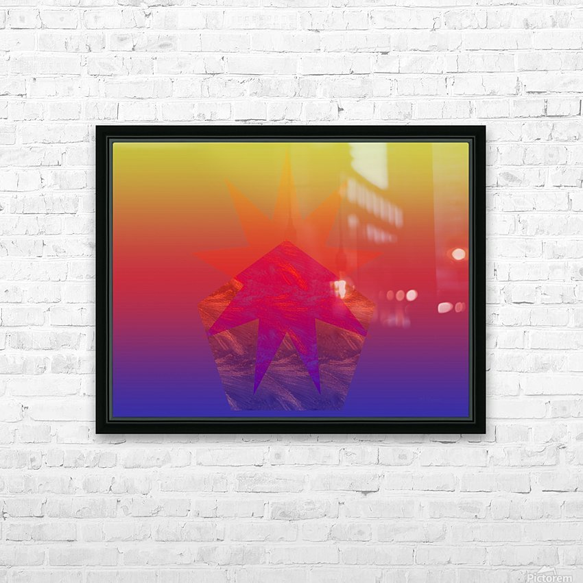 Polygon & Star V4 HD Sublimation Metal print with Decorating Float Frame (BOX)