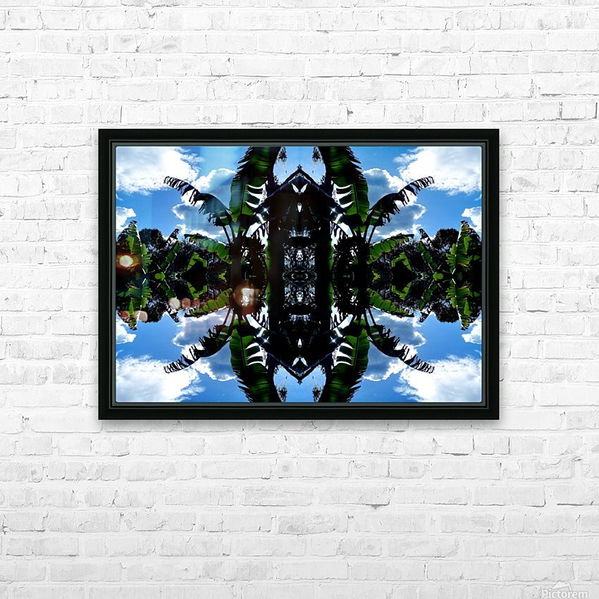 natural 3 HD Sublimation Metal print with Decorating Float Frame (BOX)