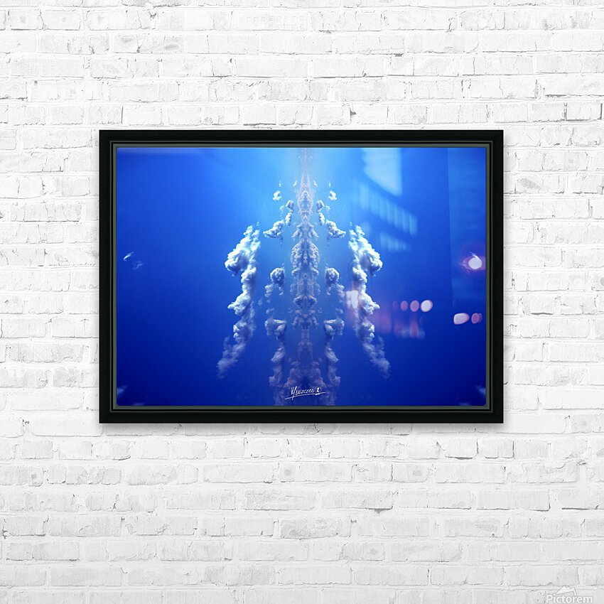 blue 1 HD Sublimation Metal print with Decorating Float Frame (BOX)