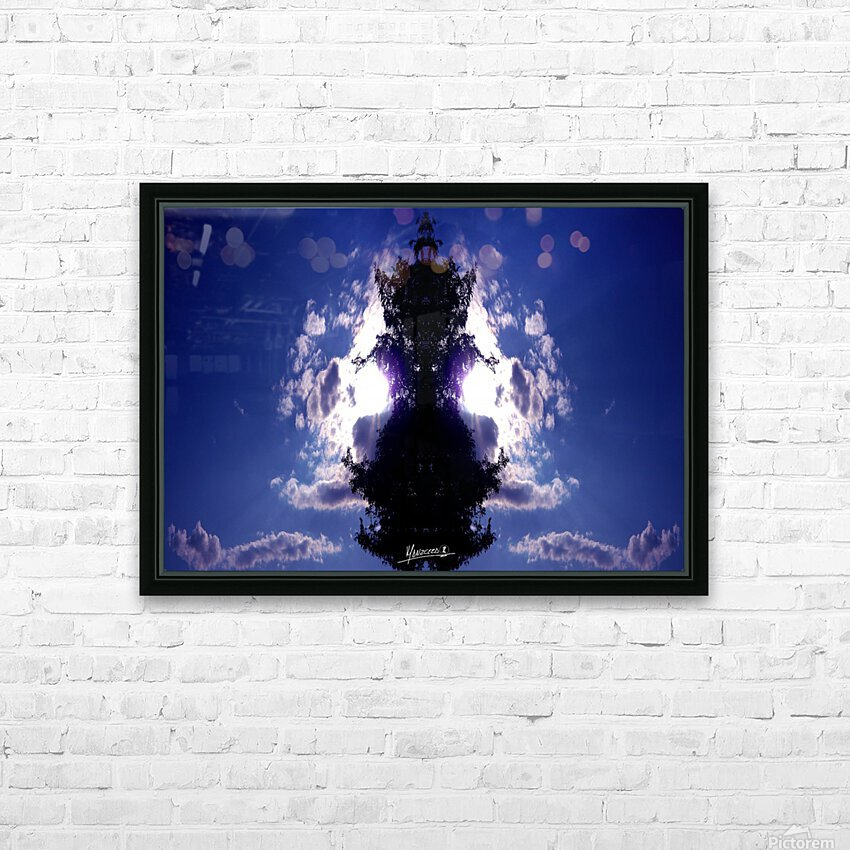blue 2 HD Sublimation Metal print with Decorating Float Frame (BOX)