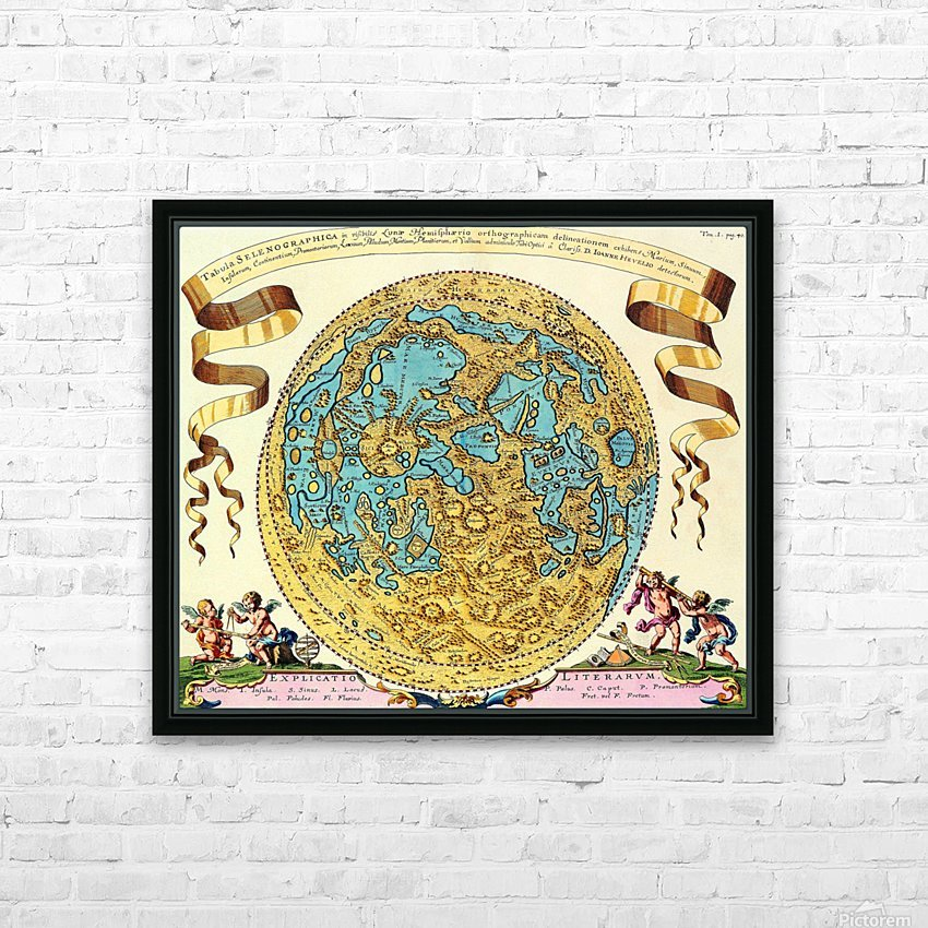 Ancient World Map 11 HD Sublimation Metal print with Decorating Float Frame (BOX)