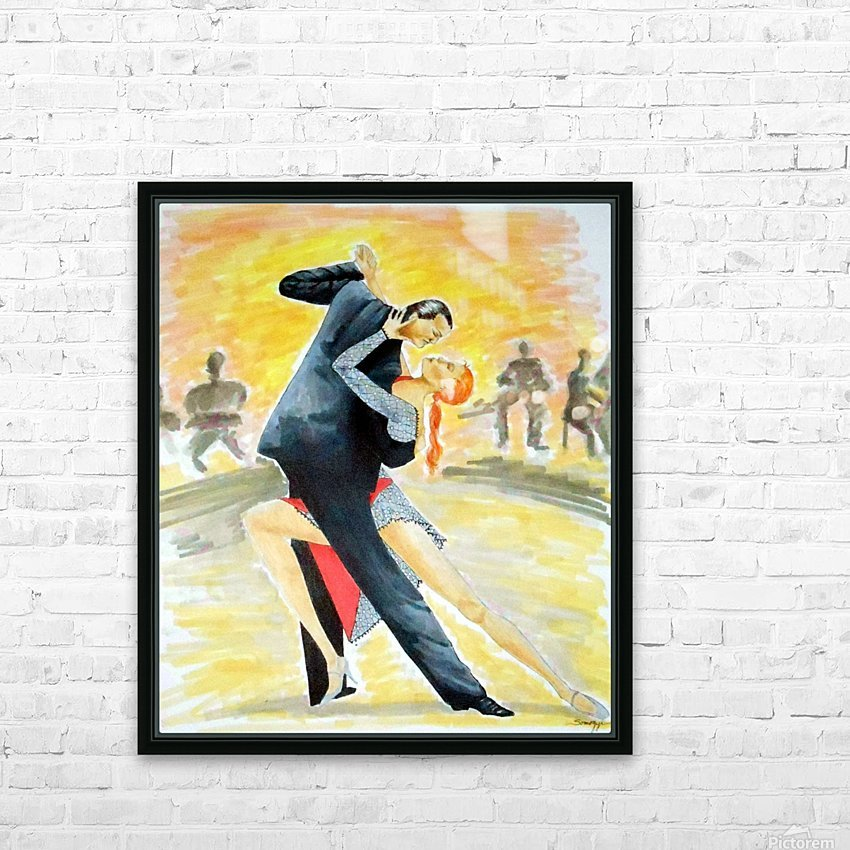 Tango Tangle HD Sublimation Metal print with Decorating Float Frame (BOX)
