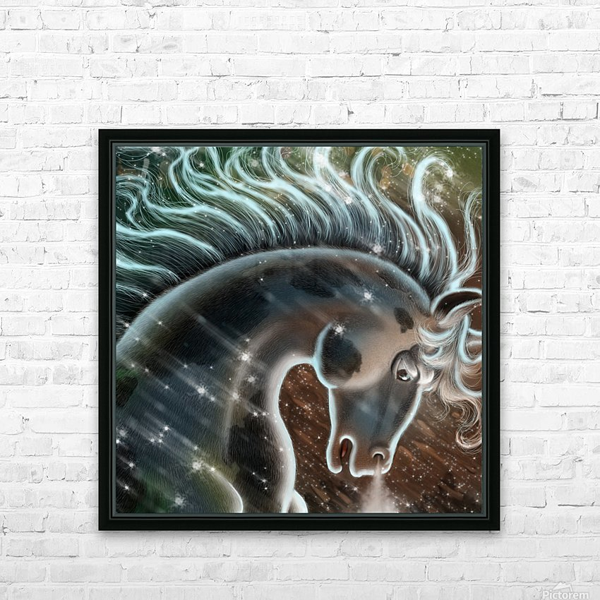 horse nature stallion equestrian HD Sublimation Metal print with Decorating Float Frame (BOX)