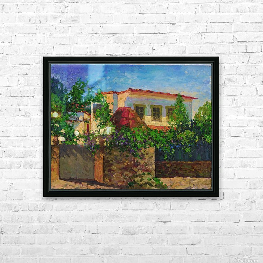 Little_Spanish_House HD Sublimation Metal print with Decorating Float Frame (BOX)