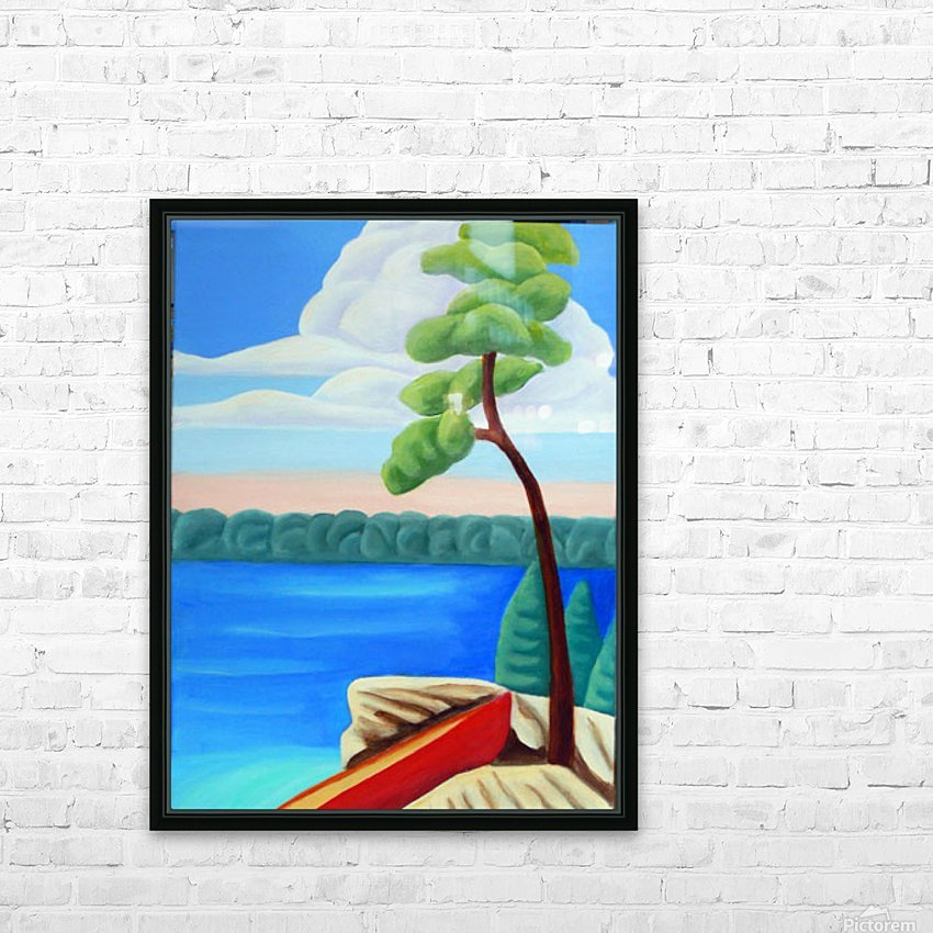 Georgian Bay Shores HD Sublimation Metal print with Decorating Float Frame (BOX)