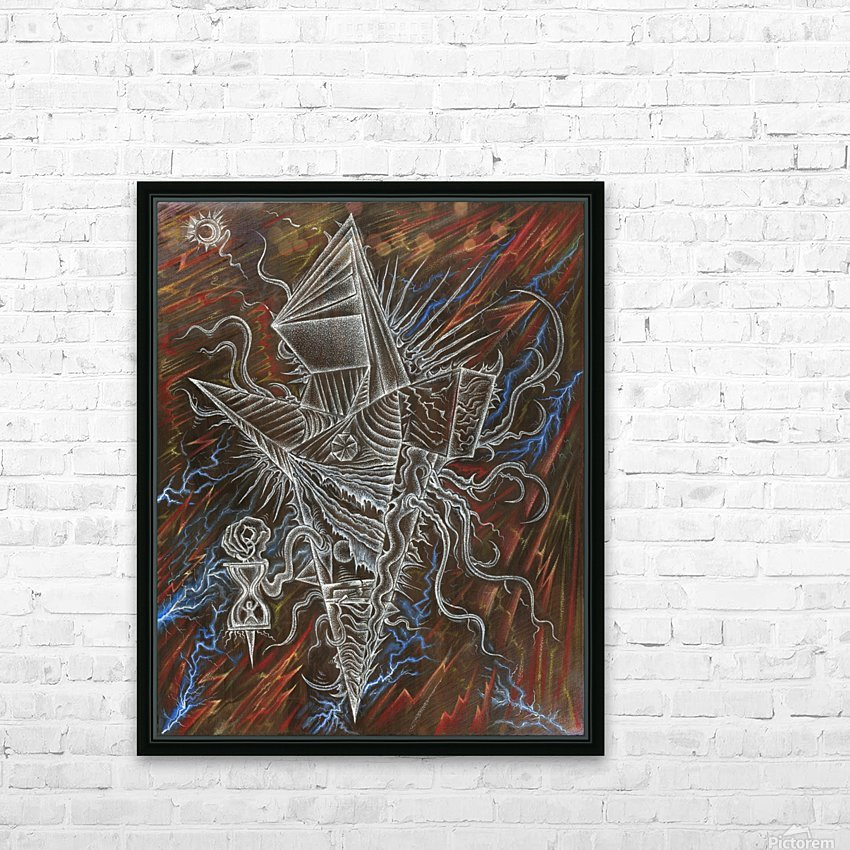 Deity_From_The_Abyss_2 HD Sublimation Metal print with Decorating Float Frame (BOX)