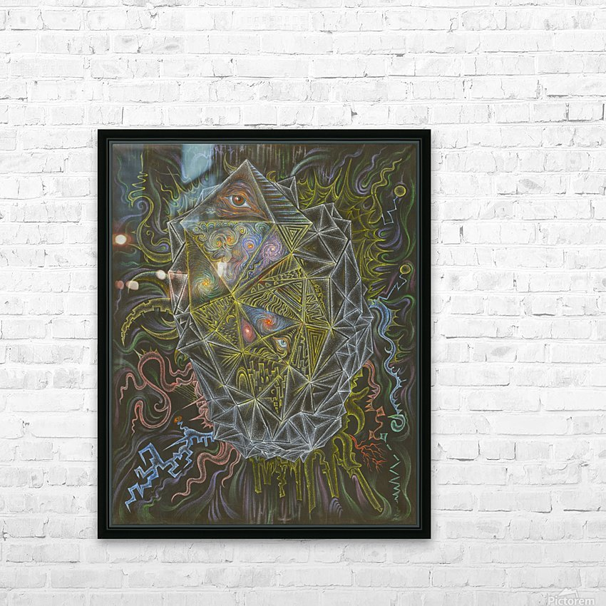 Deity_From_The_Abyss HD Sublimation Metal print with Decorating Float Frame (BOX)