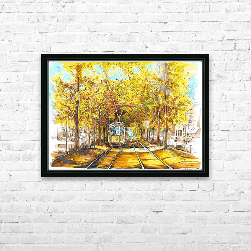 Autumn_Blues HD Sublimation Metal print with Decorating Float Frame (BOX)