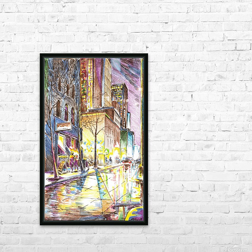 NYC_At_night_City_Scope HD Sublimation Metal print with Decorating Float Frame (BOX)