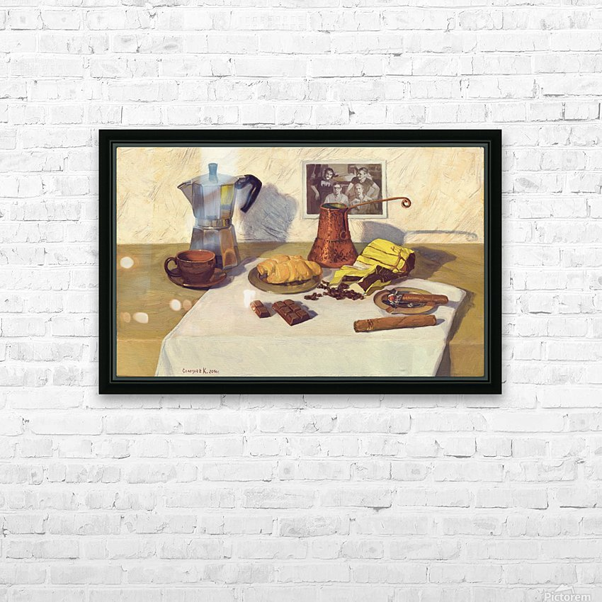 Still_Life_With_Coffee_50x80 HD Sublimation Metal print with Decorating Float Frame (BOX)