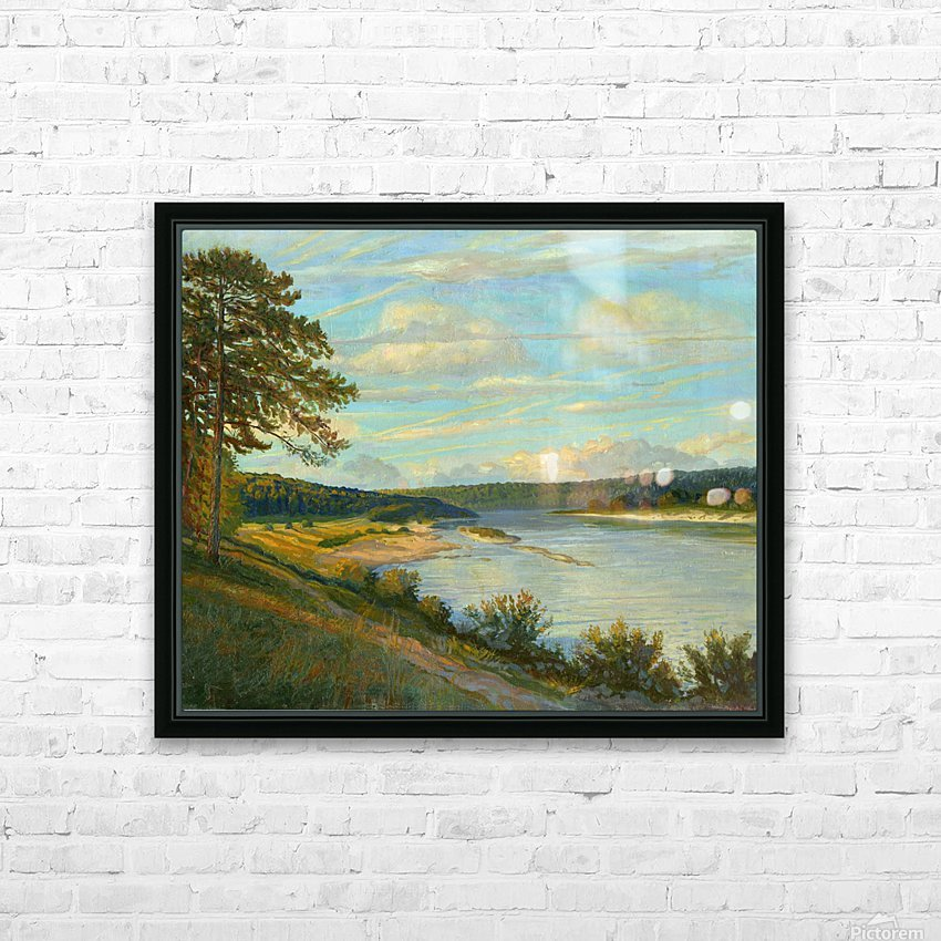 Okah_River_In_August HD Sublimation Metal print with Decorating Float Frame (BOX)