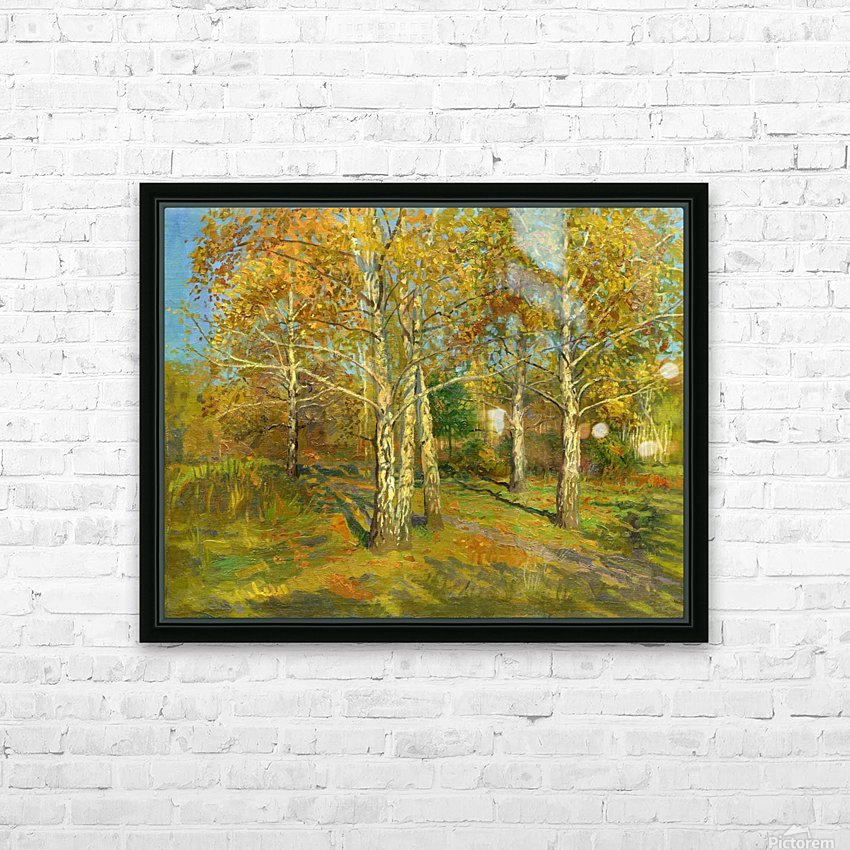 Birch_Trees_In_Tsaritsyno HD Sublimation Metal print with Decorating Float Frame (BOX)