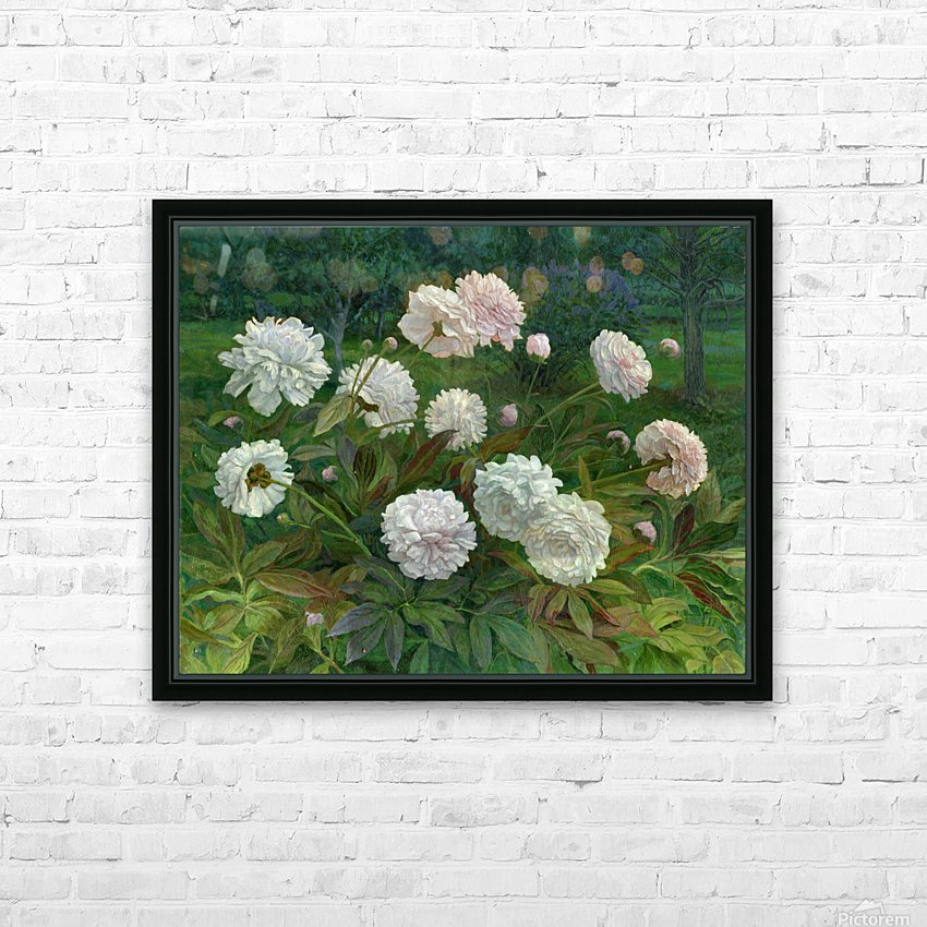 Peonies HD Sublimation Metal print with Decorating Float Frame (BOX)