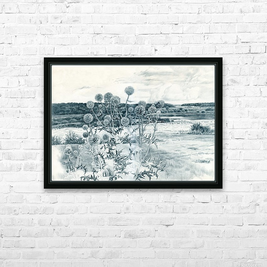 Scotch_Thistle HD Sublimation Metal print with Decorating Float Frame (BOX)