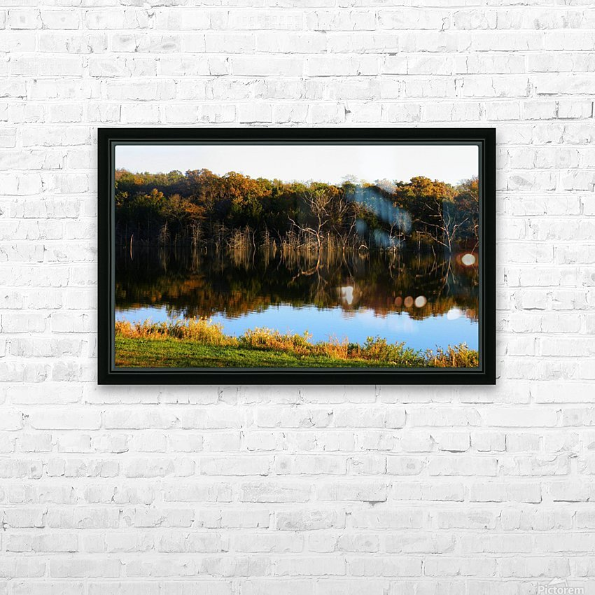 Fall Lake HD Sublimation Metal print with Decorating Float Frame (BOX)