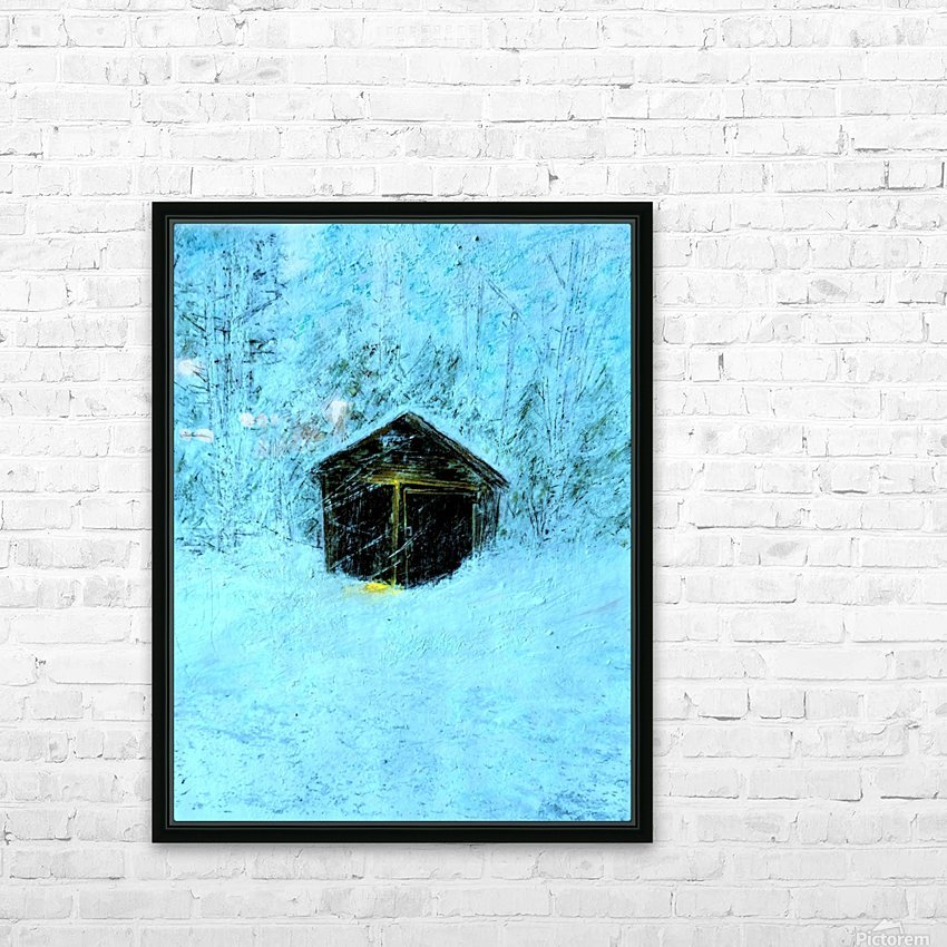 Snowy Snowy Night  HD Sublimation Metal print with Decorating Float Frame (BOX)