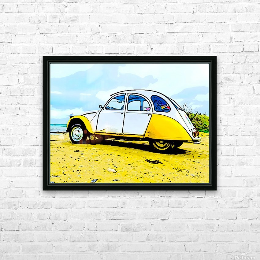 Beach Car HD Sublimation Metal print with Decorating Float Frame (BOX)
