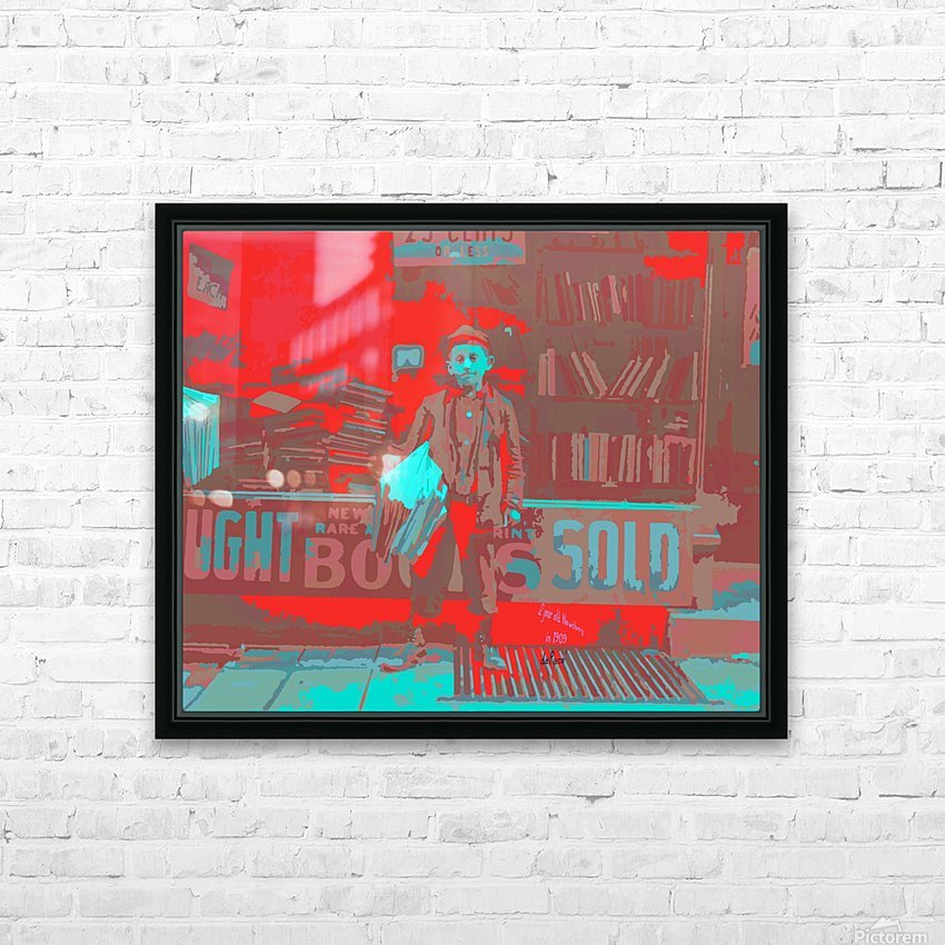 Newsboy in 1909 HD Sublimation Metal print with Decorating Float Frame (BOX)
