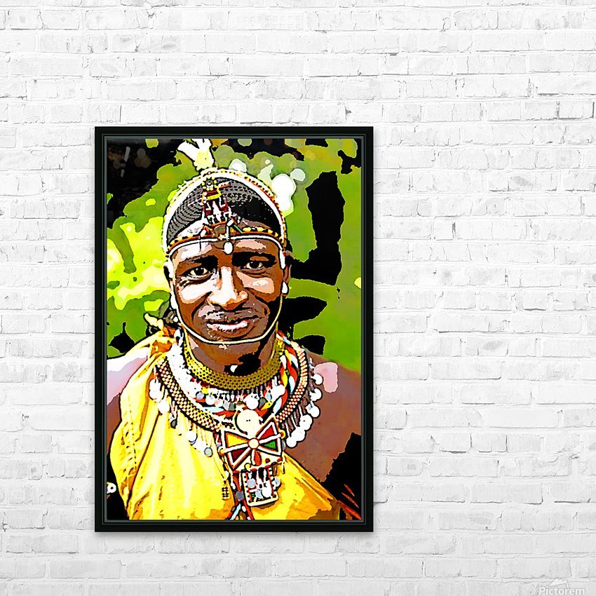 African HD Sublimation Metal print with Decorating Float Frame (BOX)