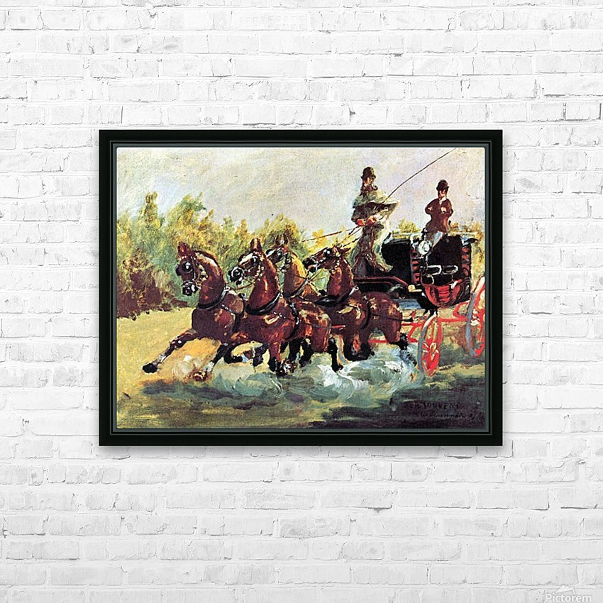 Count Alphonse de Toulouse-Lautrec HD Sublimation Metal print with Decorating Float Frame (BOX)