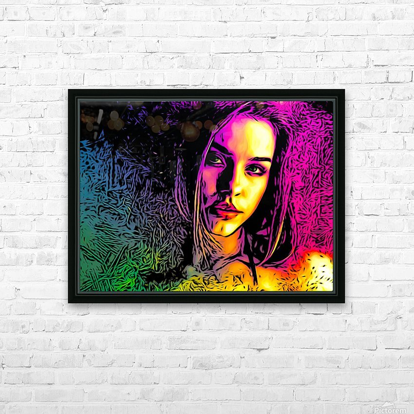 MultiColor Girl HD Sublimation Metal print with Decorating Float Frame (BOX)