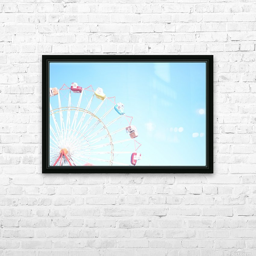 Ferris Wheel Against the Sky HD Sublimation Metal print with Decorating Float Frame (BOX)