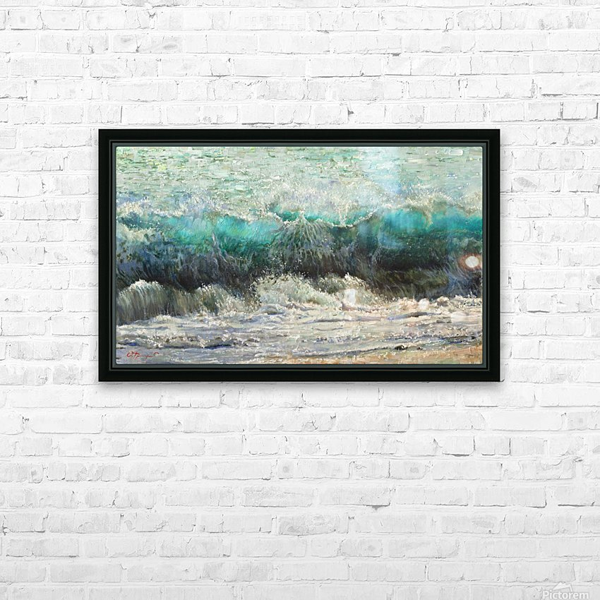 The_Wave HD Sublimation Metal print with Decorating Float Frame (BOX)