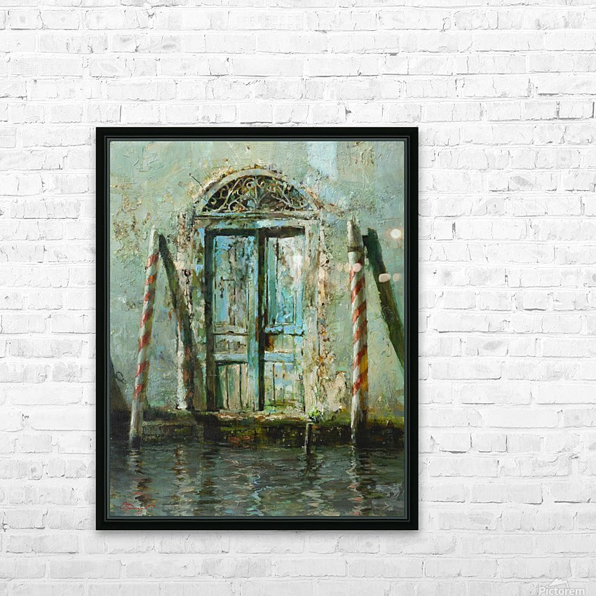 Venetian_Door HD Sublimation Metal print with Decorating Float Frame (BOX)