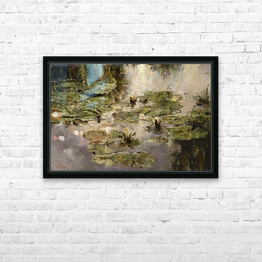Old_pond HD Sublimation Metal print with Decorating Float Frame (BOX)