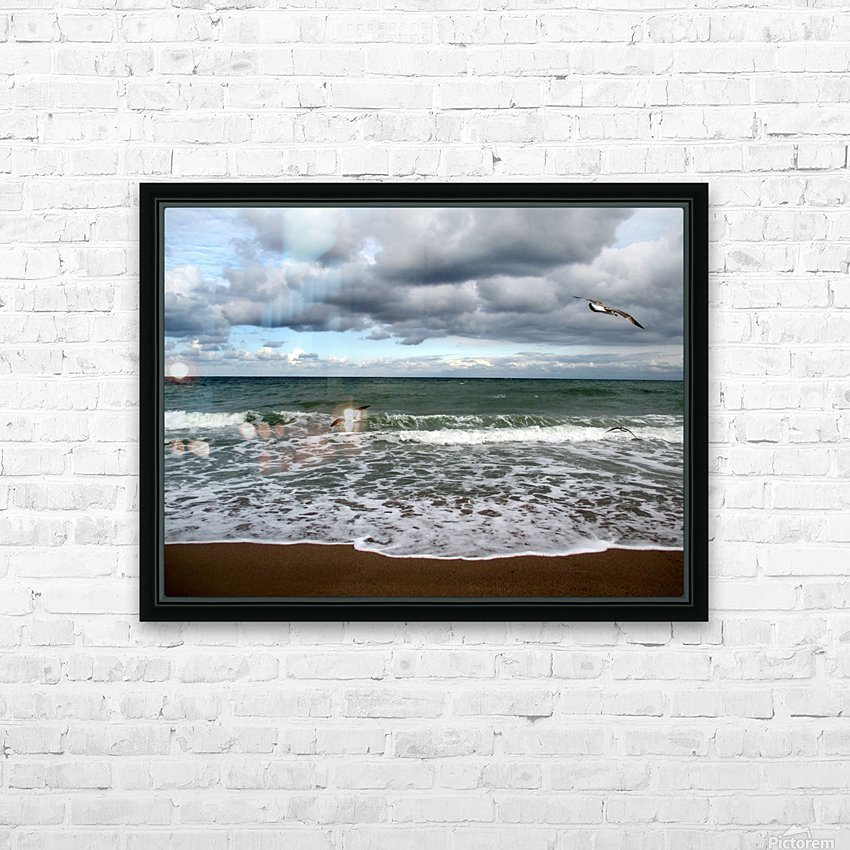 A sense of freedom by the beach HD Sublimation Metal print with Decorating Float Frame (BOX)