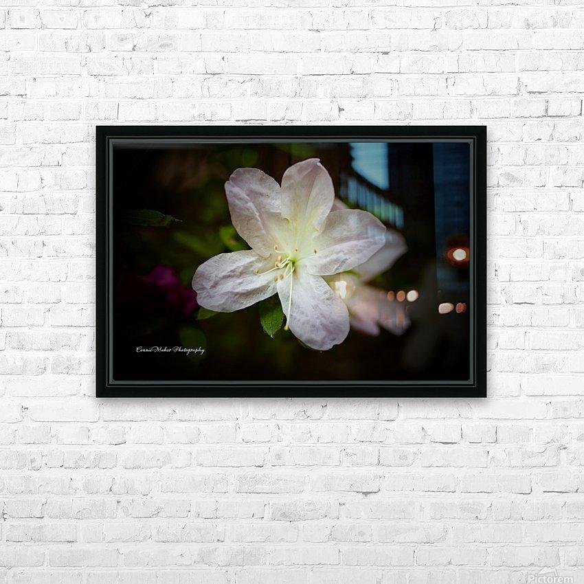 White Azalea  HD Sublimation Metal print with Decorating Float Frame (BOX)