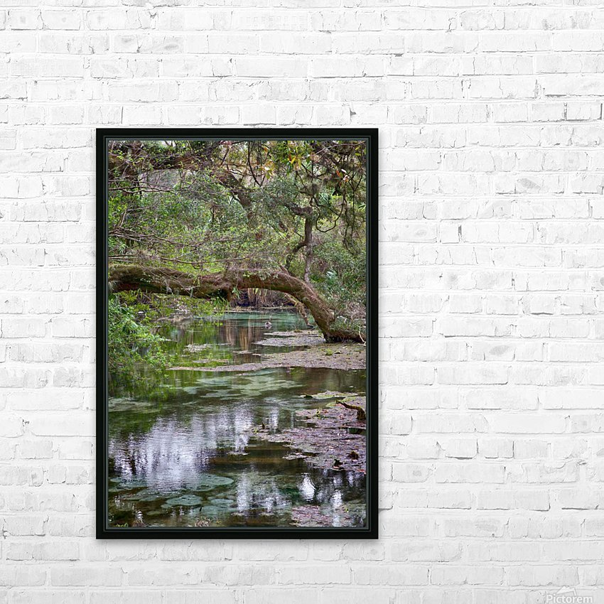 Stream  HD Sublimation Metal print with Decorating Float Frame (BOX)