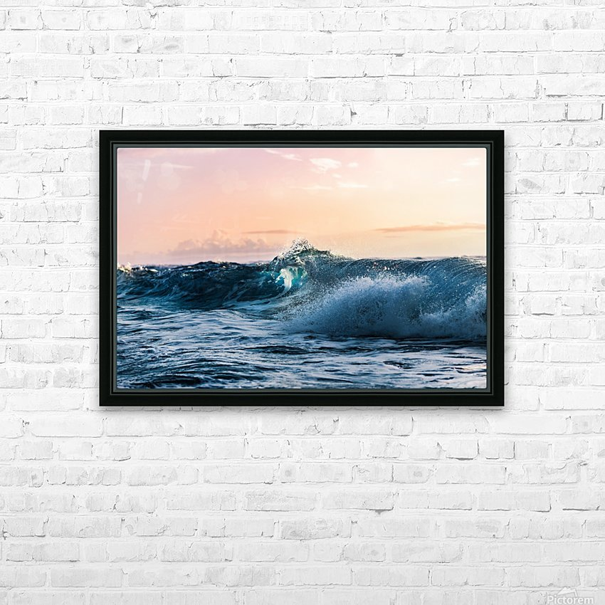 Blue Break HD Sublimation Metal print with Decorating Float Frame (BOX)