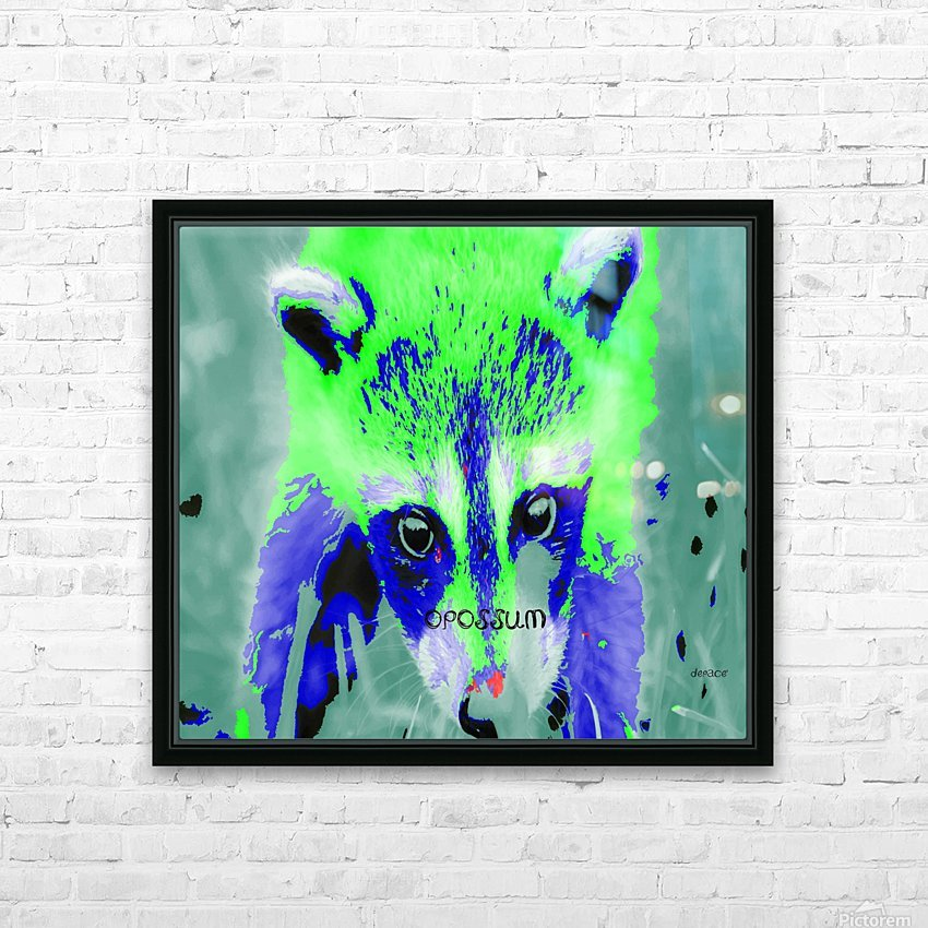 abstract Opossum HD Sublimation Metal print with Decorating Float Frame (BOX)
