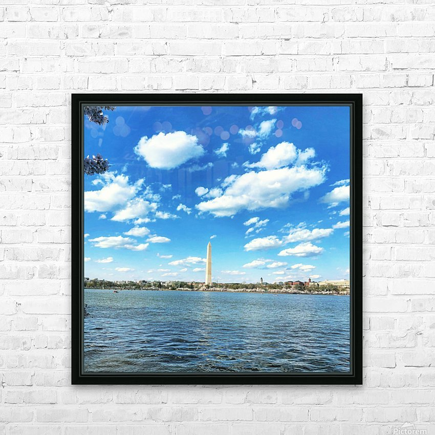 Tidal Basin Cherry Blossoms HD Sublimation Metal print with Decorating Float Frame (BOX)
