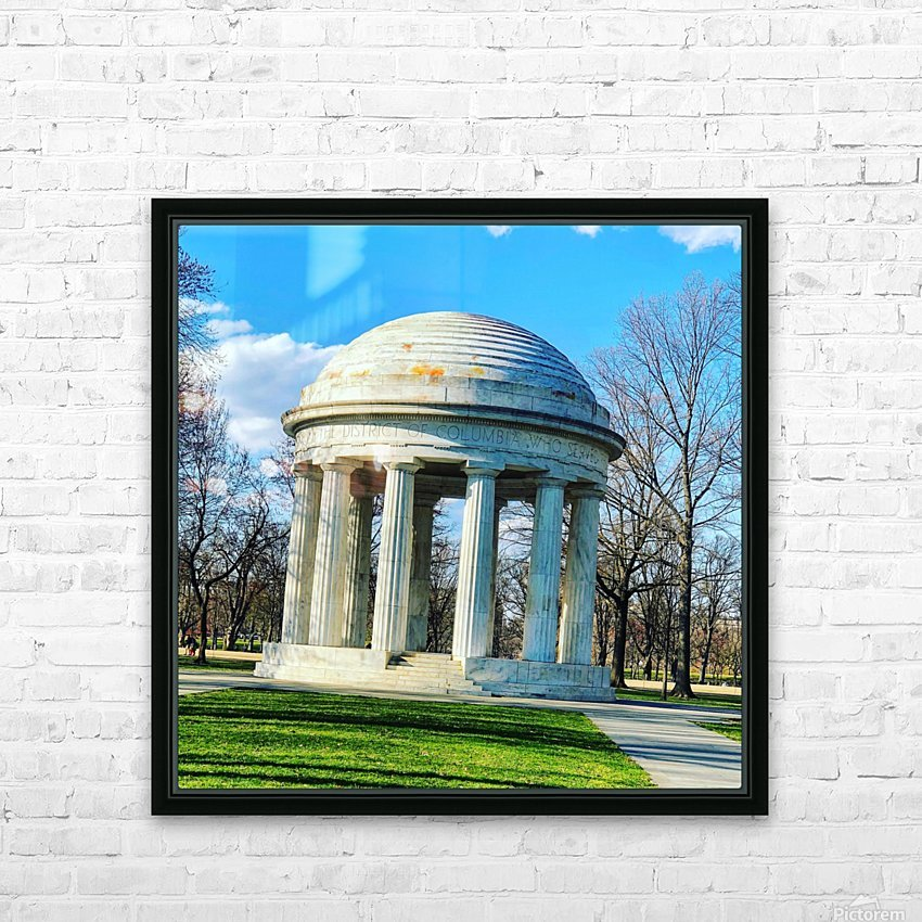 DC War Memorial HD Sublimation Metal print with Decorating Float Frame (BOX)