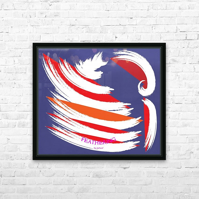 FEATHERING BY DEPACE HD Sublimation Metal print with Decorating Float Frame (BOX)