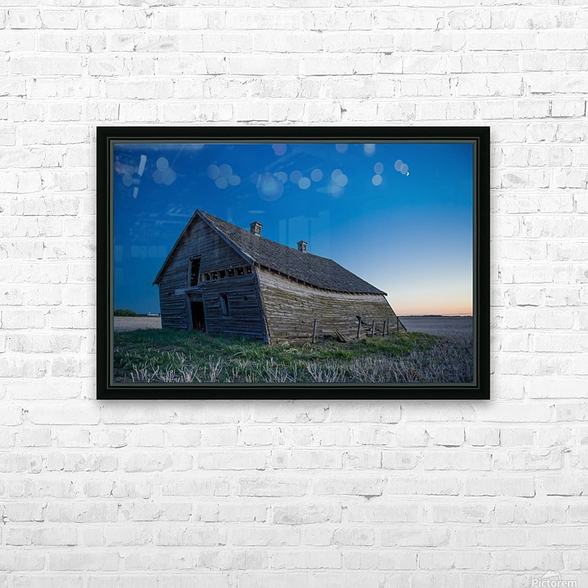 Leaning Barn HD Sublimation Metal print with Decorating Float Frame (BOX)