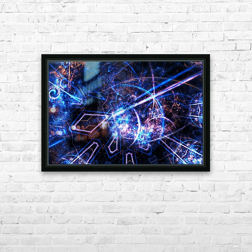 Time traveller HD Sublimation Metal print with Decorating Float Frame (BOX)