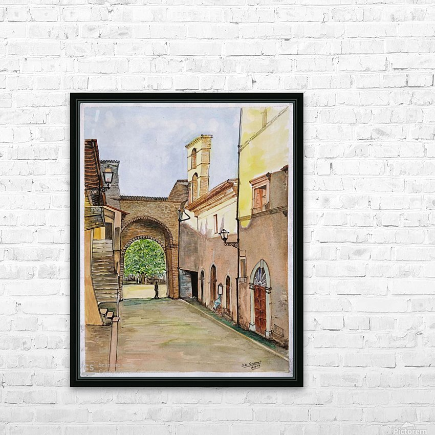 City Gate _DKS HD Sublimation Metal print with Decorating Float Frame (BOX)