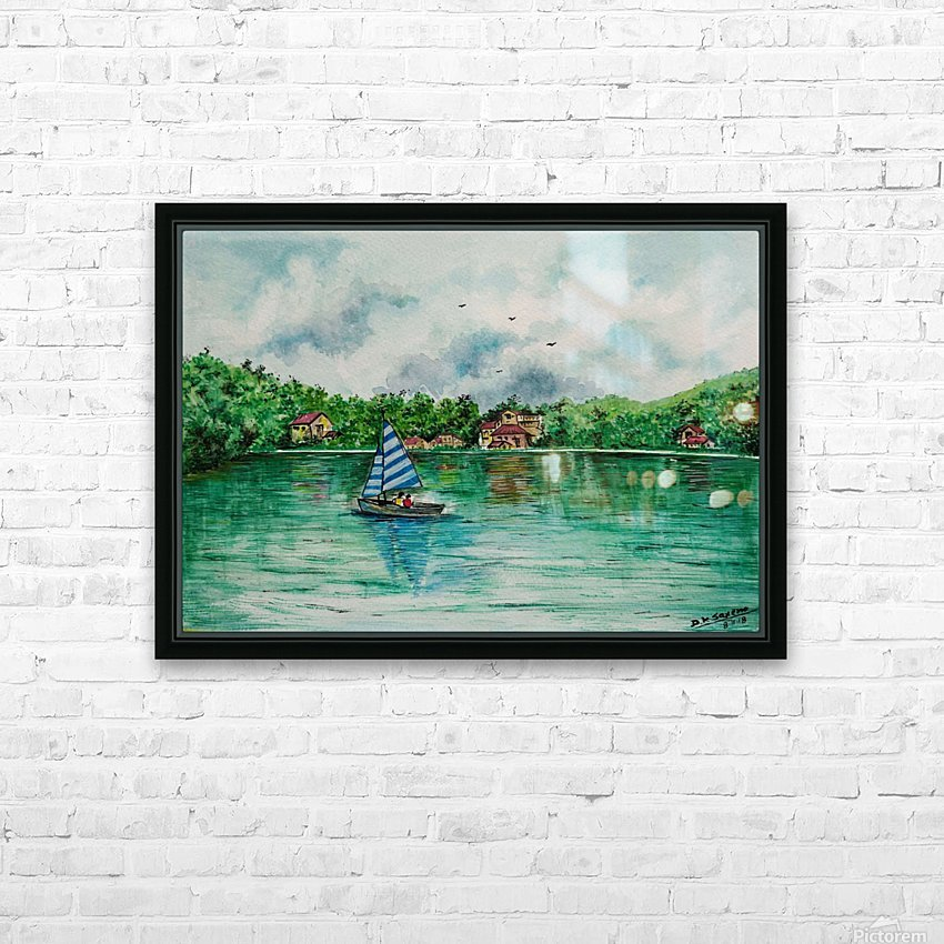 Naini lake_DKS HD Sublimation Metal print with Decorating Float Frame (BOX)