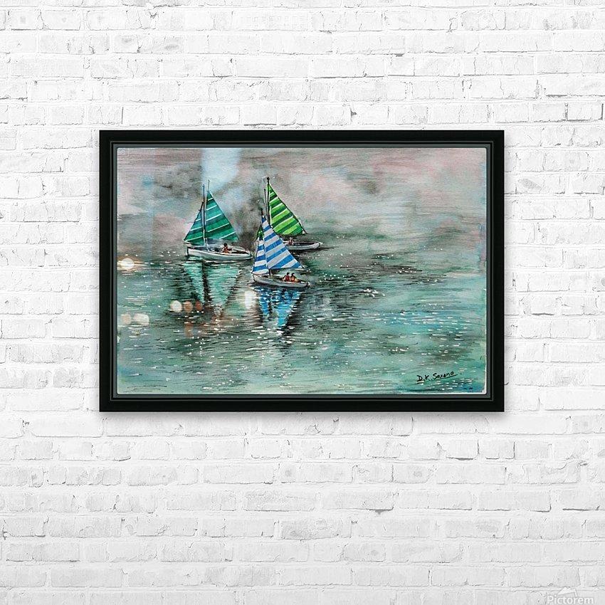 Naini lake_DKS HD sublimation métal imprimé avec décoration flotteur cadre (boîte)