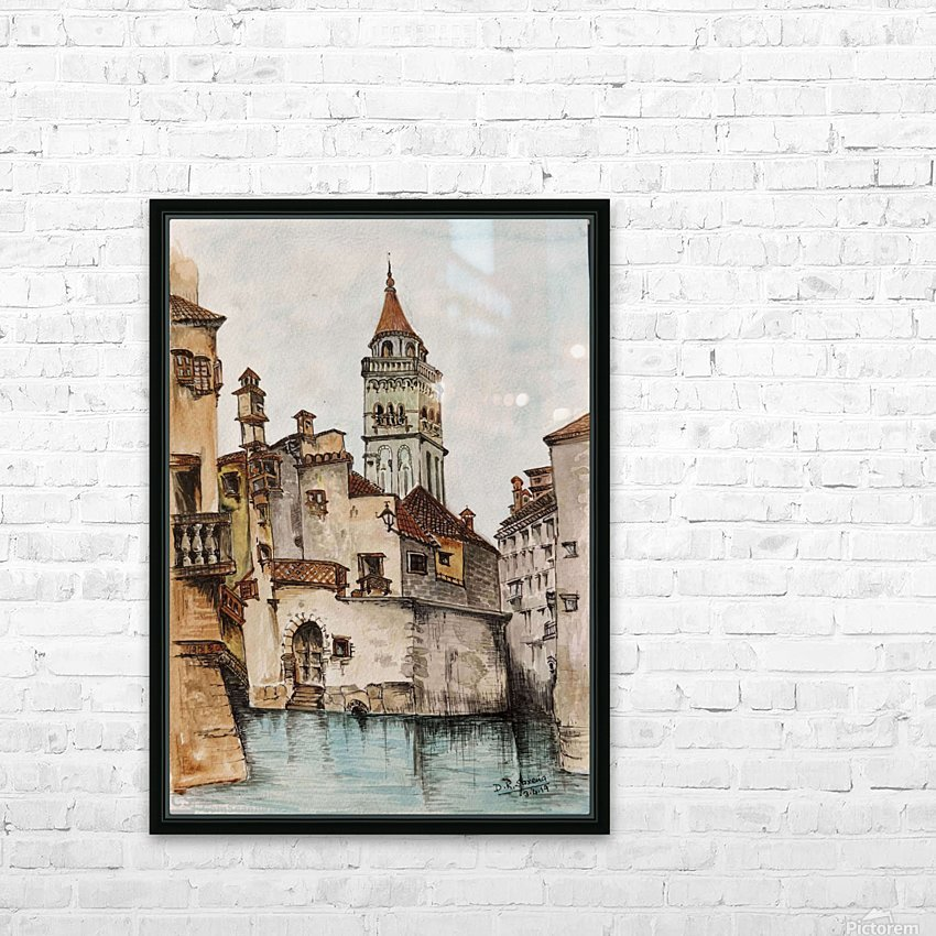 Castle_DKS HD Sublimation Metal print with Decorating Float Frame (BOX)