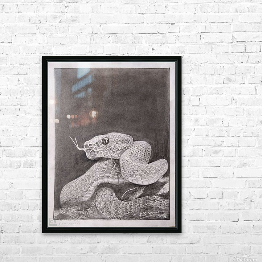Snake_DKS HD Sublimation Metal print with Decorating Float Frame (BOX)