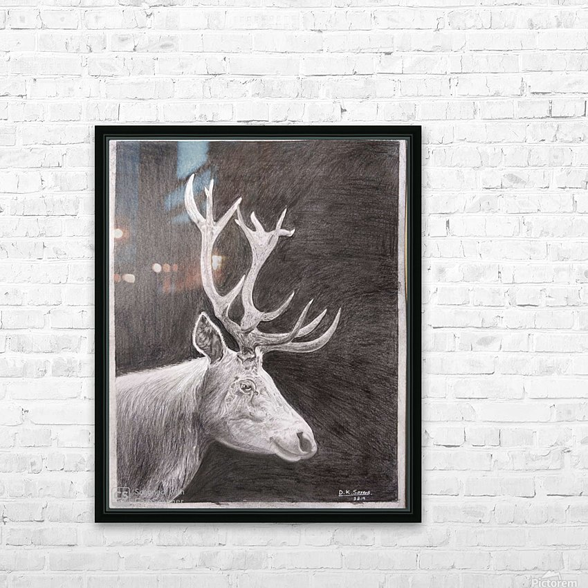Stag_DKS HD Sublimation Metal print with Decorating Float Frame (BOX)