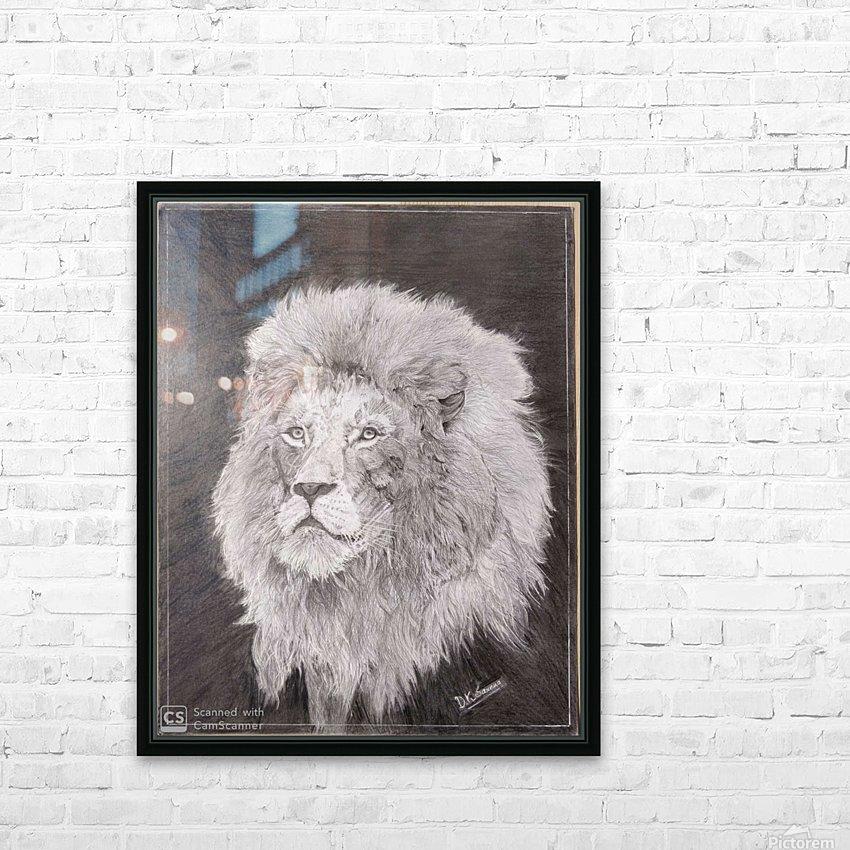 Lion_DKS HD Sublimation Metal print with Decorating Float Frame (BOX)