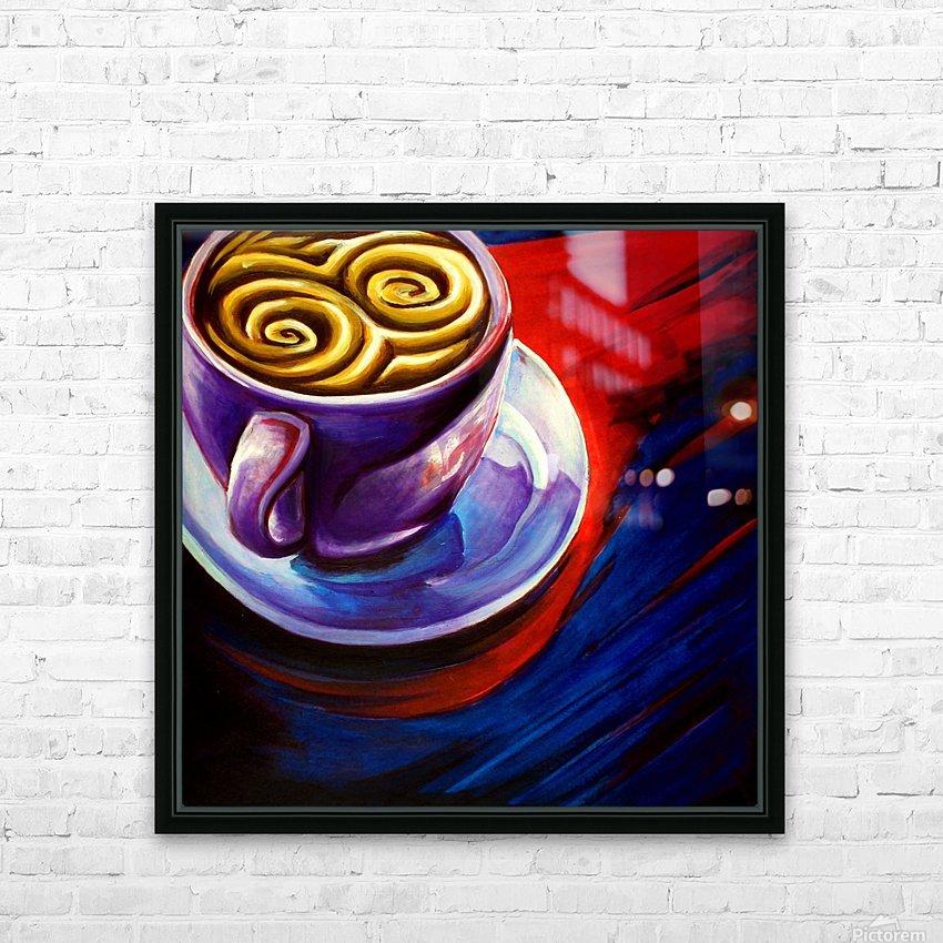 Coffee HD sublimation métal imprimé avec décoration flotteur cadre (boîte)