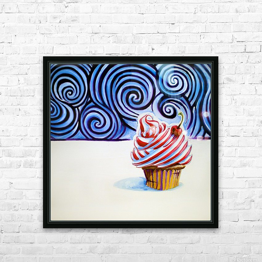 Cupcake HD Sublimation Metal print with Decorating Float Frame (BOX)