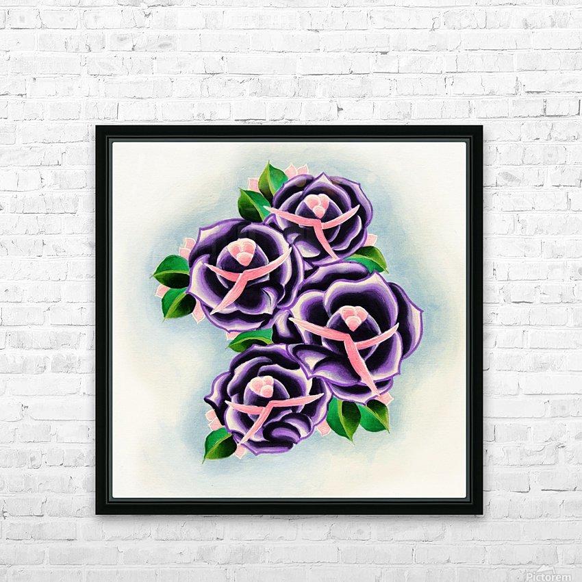 Roses HD sublimation métal imprimé avec décoration flotteur cadre (boîte)