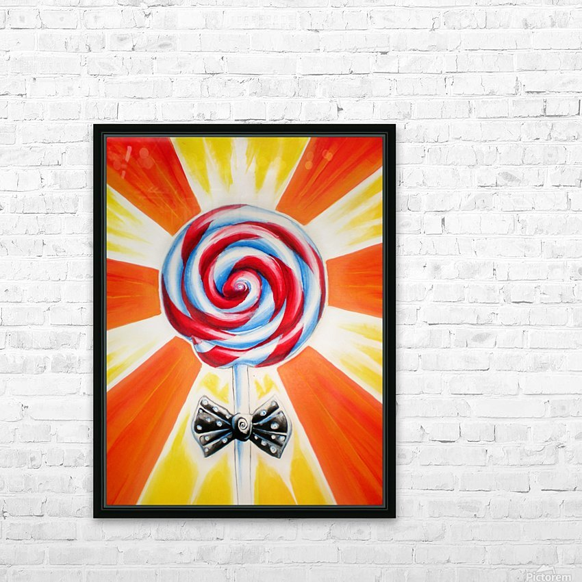 Lollipop HD Sublimation Metal print with Decorating Float Frame (BOX)